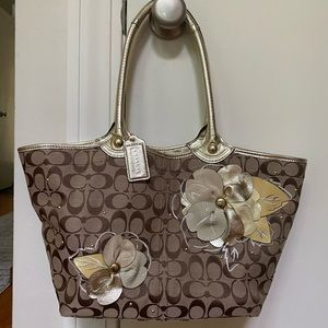 Floral Coach Tote